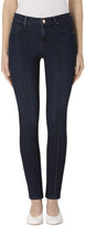 J Brand 811 Mid-Rise Pintuck Skinny In Fix