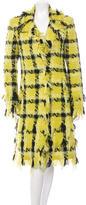 Versace Tweed Plaid Coat