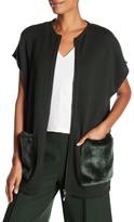 Lafayette 148 New York Faux Fur Pocket Vest