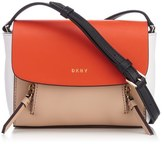 DKNY Women's Greenwich Smooth Mini Messenger Bag Nude/Orange