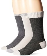 Lucky Brand Lucky Men's 3 Pack Marled Colorblock Cable Casual Crew Socks