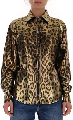 Dolce & Gabbana Metallic Animal Print Shirt