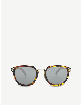 Christian Dior Tailoring 1 square-frame tortoiseshell mirror lens sunglasses