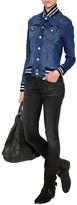 Mother Baseball-Style Jean Jacket