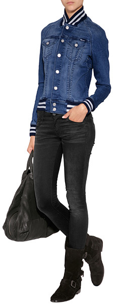 Mother The Looker Jeans in Black