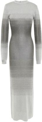 Paco Rabanne Metallic Degrade Jacquard-knit Maxi Dress