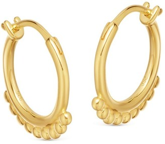 Missoma Lucy Williams Gold Mini Beaded Hinged Hoops