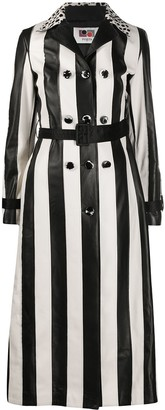 Ports 1961 Striped Button-Embellished Coat