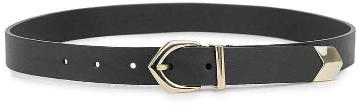 Andersons Black Leather Belt