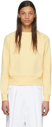 Random Identities Yellow Cropped Sweater