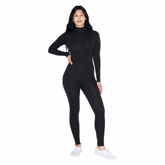 American Apparel Women's Cotton Spandex Long Sleeve Turtleneck Catsuit