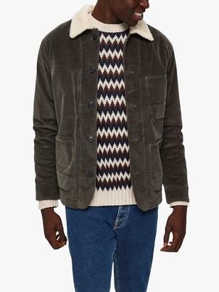 Selected Jackson Corduroy Jacket, Black Ink