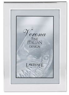 """Lawrence Frames Brushed Silver Metal Picture Frame - 4"""" x 6"""""""