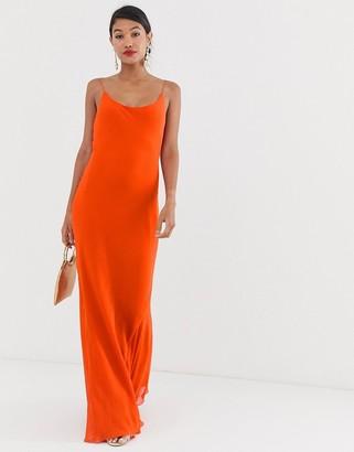 Asos Design DESIGN floaty cami maxi dress-Red