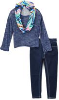 KensieGirl Dark Blue Top & Jeans Set - Toddler & Girls