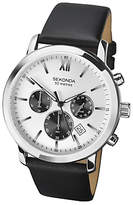 Sekonda Chronograph Date Leather Strap Watch