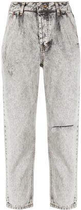 Sjyp Cropped Light Wash Jeans