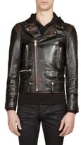 Saint Laurent Martini Cat Leather Moto Jacket