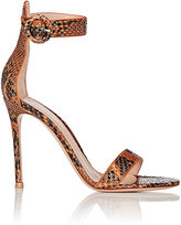 Gianvito Rossi Women's Portofino Ankle-Strap Sandals-ORANGE