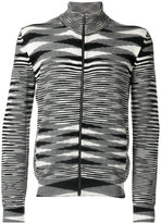 Missoni striped zip cardigan - men - Cashmere - 48