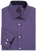 English Laundry Men's Micro Check Cotton Dress Shirt