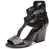 The Kooples Women's Metallic Leather Sandal