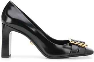 Versace Greca buckle leather pumps