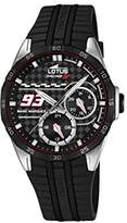 Lotus Marc Marquez Collection 2016 Unisex Quartz Watch with Black Dial Analogue Display and Black Rubber Strap 18260/4