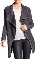 Inhabit Cowl Neck Long Sleeve Linen Blend Cardigan