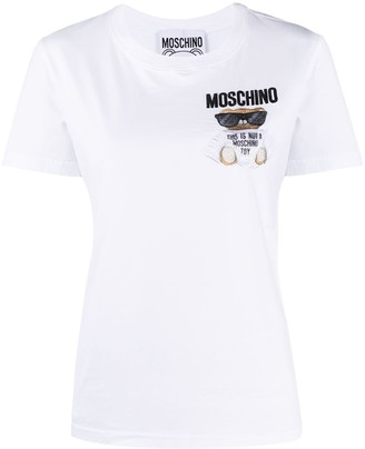 Moschino teddy bear embroidered T-shirt