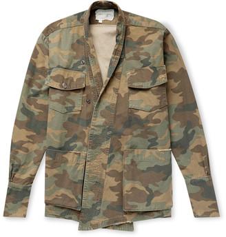 Greg Lauren Camouflage-Print Cotton Jacket