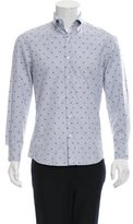 Michael Bastian Tree-Embroidered Button-Up Shirt