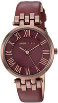 Anne Klein Women's AK/2619BYBN Brown and Leather Strap Watch
