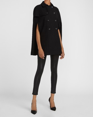 Express Double Breasted Wool-Blend Cape Coat