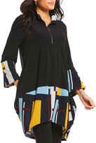 IC Collection Block Print Zipper Front Tunic