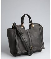 black pebbled leather 'Chelsea' convertible top handle bag