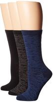 Steve Madden 3-Pack Pattern Crew Socks Women's Crew Cut Socks Shoes