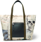 Alexander McQueen - Letters From India Leather and Printed Shell Tote Bag