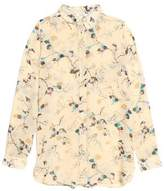Ganni Printed Crepe De Chine Shirt