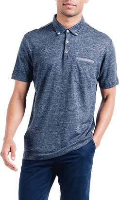 Good Man Brand Heathered Linen Polo
