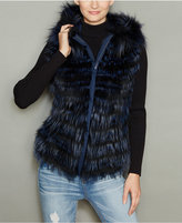 The Fur Vault Fox Fur Hooded Vest