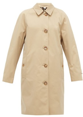 Burberry Leopard-print Lined Cotton Trench Coat - Womens - Beige Multi