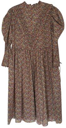 Horror Vacui Multicolour Cotton Dress for Women