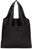 Jil Sander Navy Black Leather Hobo Tote Bag