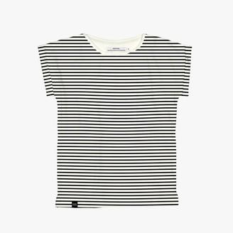 dedicated - Visby Stripes Black T Shirt - S