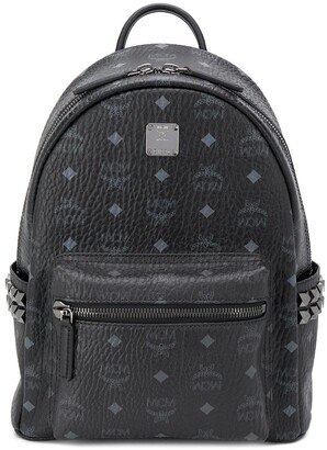 MCM Stark studded monogram backpack
