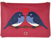 "C. Wonder Love Birds"" Zip Top Large Pouch"