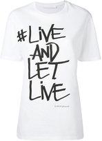 Neil Barrett slogan printed T-shirt - women - Cotton - XS