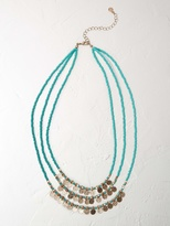 White Stuff Beach disc layer necklace