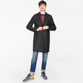 Paul Smith Men's Dark Grey Wool-Cashmere Overcoat